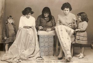 Making Lefkara lace, 1959