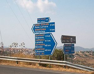 Road Sign Near Lefkara